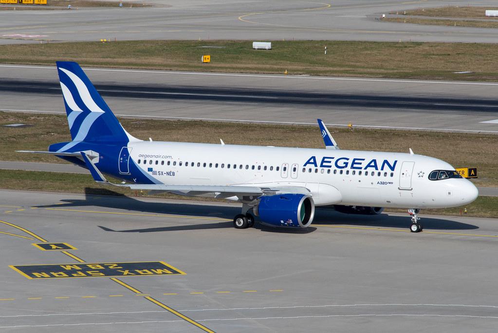 Aegean Airlines Airbus A320-271N; SX-NEB@ZRH;22.02.2020