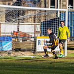 Logan Johnstone turns away to celebrate after netting the opening goal