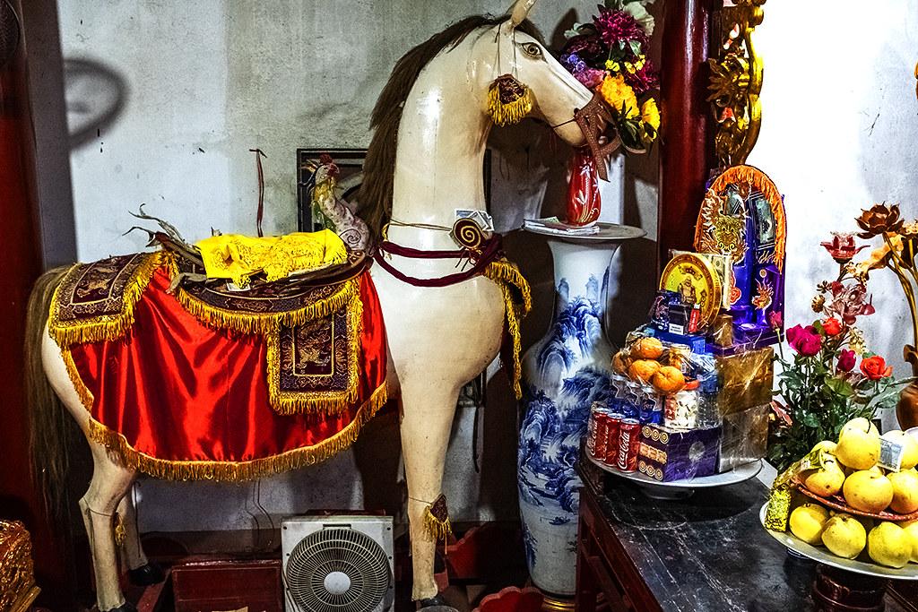 Wooden horse at Bac Ha Shrine--Bac Ha