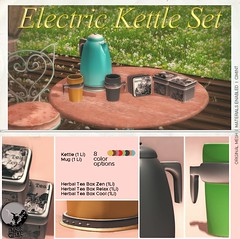 Mainstore release : Electric Kettle Set