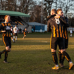 Kai Ross (8) congratulates Nathan Meres for his part in the second goal