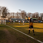 Reece McKeown (left) turns away to celebrate