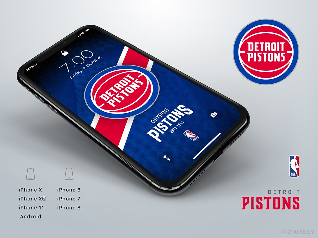 Detroit Pistons iPhone Wallpaper