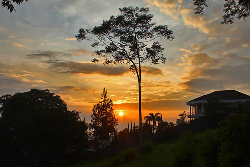 sunset scenery landscape panorama afternoon lembang bandung