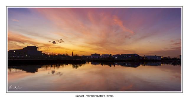 Sunset Over Coronation Street