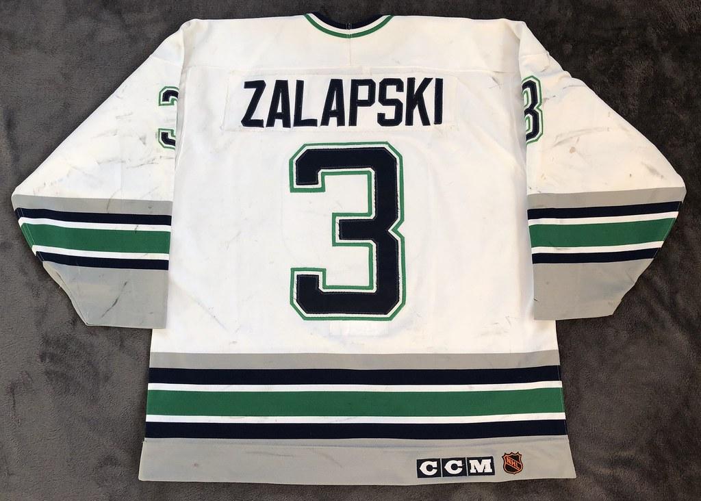 1993-94 Zarley Zalapski Hartford Whalers Home Set 1 Game Worn Jersey Back