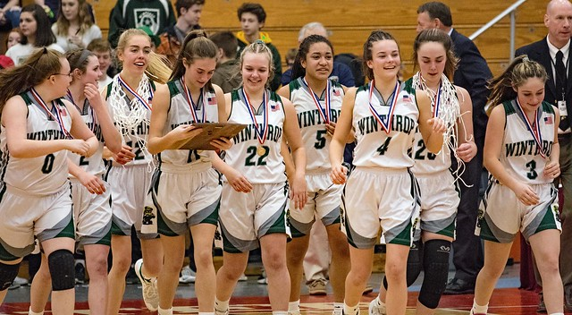 Winthrop Girl's Basketball team won the Southern Maine Class C Championship on Saturday night at the Augusta Civic Center.  They will play for the state Class C title next Saturday..  Good luck in that contest..