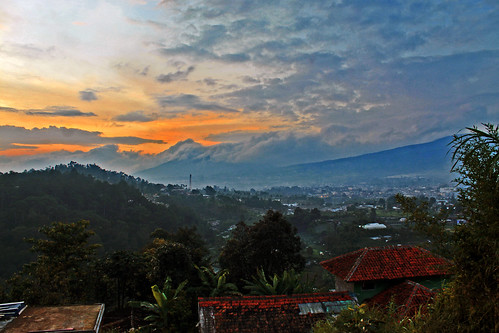 sunset sky landscape panorama scenery afternoon mountain cloud