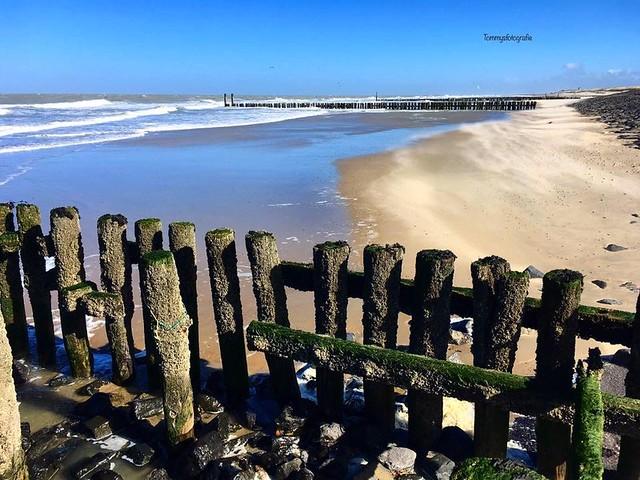 Low tide on the northsea, Westkapelle, Zeeland, Netherlands