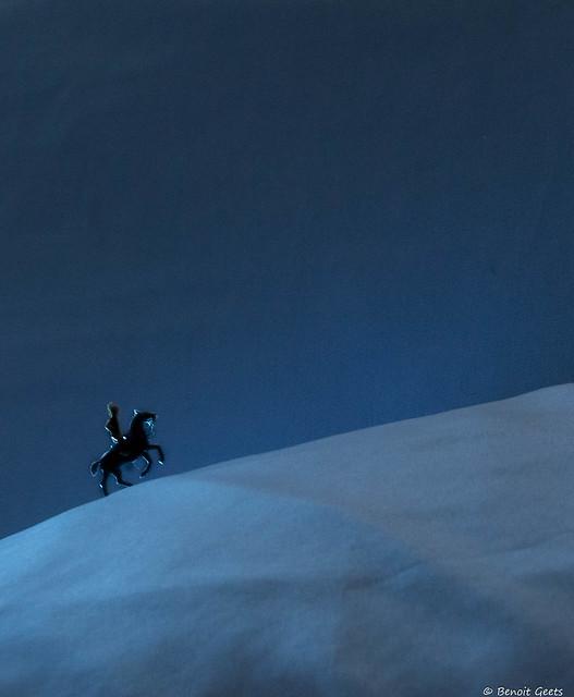 Cavalier sur la dune
