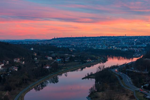 Praha z Bohnické skály