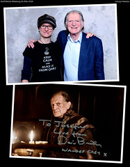 20190224_5 Me & David Bradley (& his siggy) at SciFiWorld in Gothenburg, Sweden