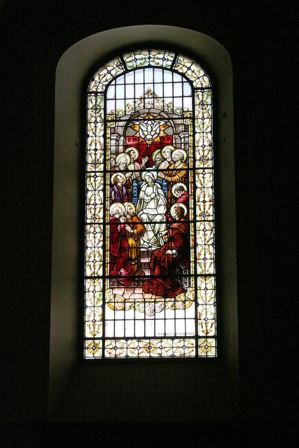 Stained glass, Basilique-Cathédrale Notre-Dame de Québec, Quebec