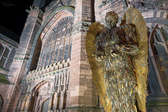 Knife Angel - Chester Cathedral