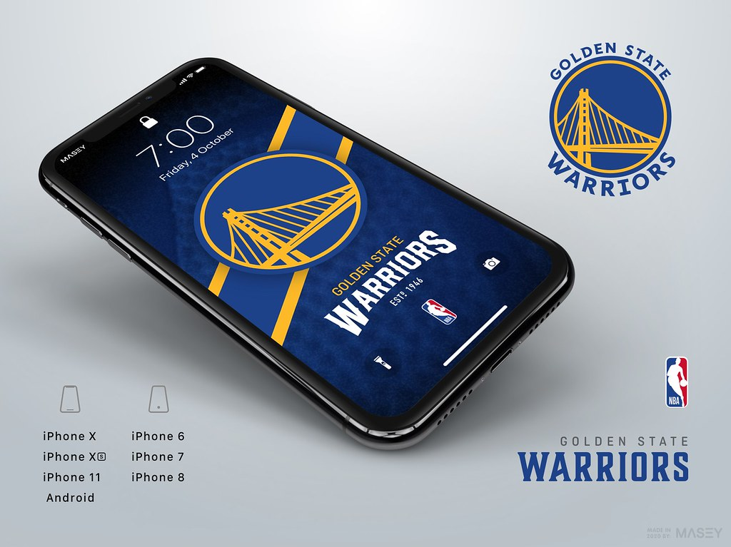 Golden State Warriors iPhone Wallpaper