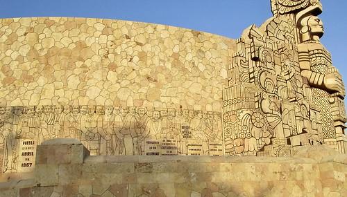Detail of the monument on Paseo de Montejo, Merida