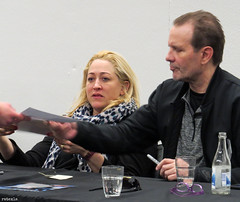 20190224_3 Jennifer Blanc & Michael Biehn at SciFiWorld in Gothenburg, Sweden