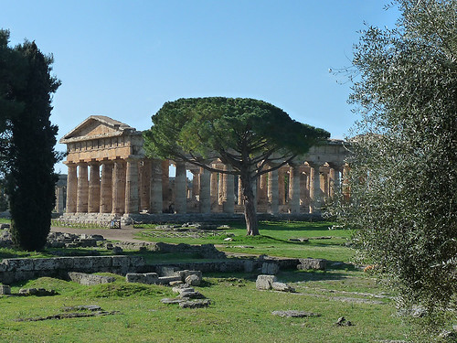 Paestum: Tři řecké chrámy a Tomba del Tuffatore na jihu Itálie