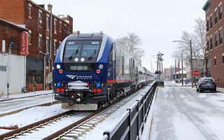 Amtrak 301 departing Springfield