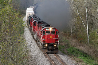 OL-2 heads East on the way back towards Olean after swapping trains in Falconer.