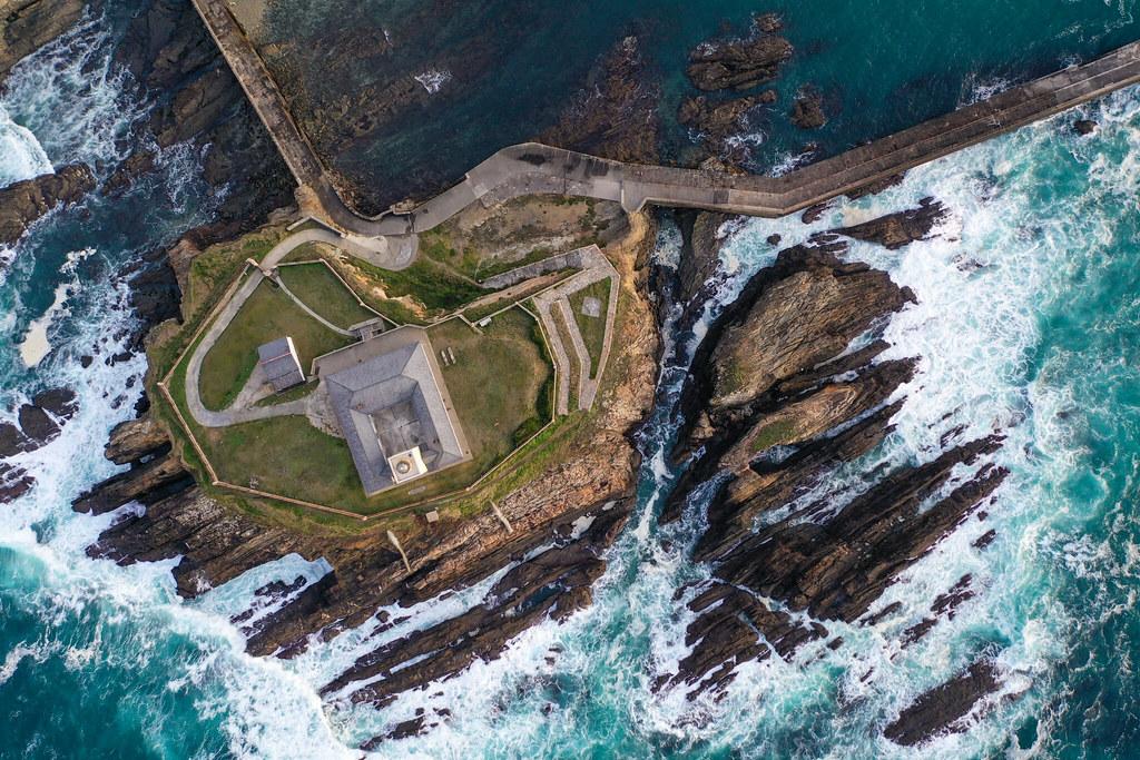 Faro de Tapia de Casariego con Mavic 2 Pro