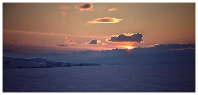 Lake Baikal : Sunset from Olkhon Island