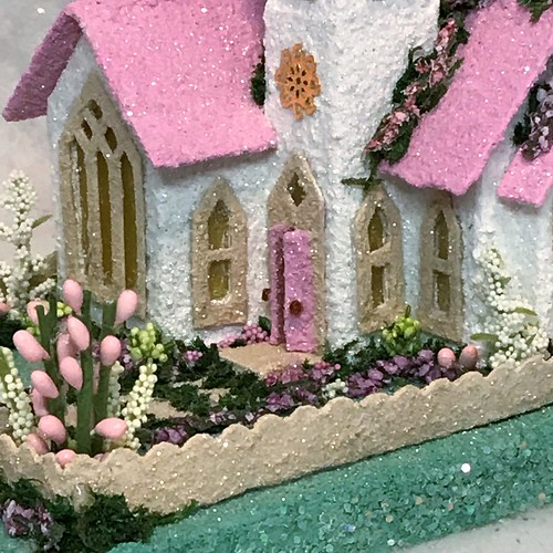 Mini White and Pink Easter church