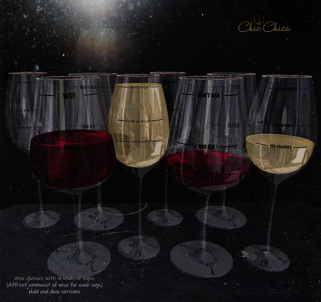 Wine glasses by ChicChica @ Cosmopolitan