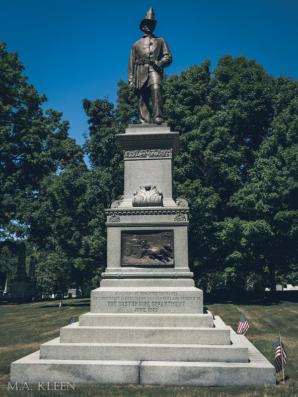 Firefighters' Monument in Forest Hills Cemetery