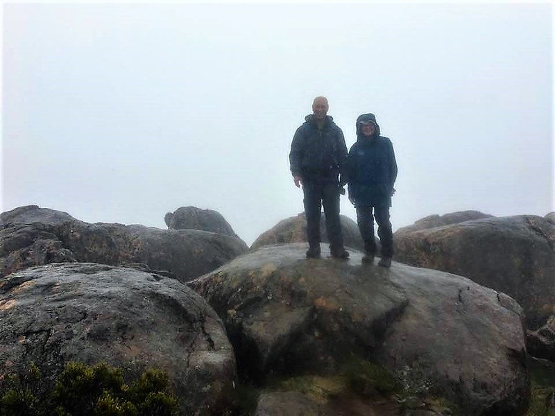 cathy and stephen on mt ossa