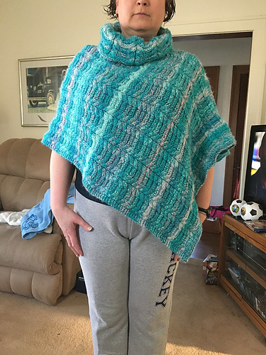 Karen (kyoungson) knit this poncho!!