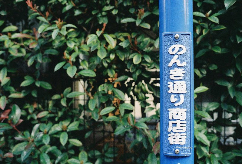 007東京いい道しぶい道西大井のんき通り街灯下の看板