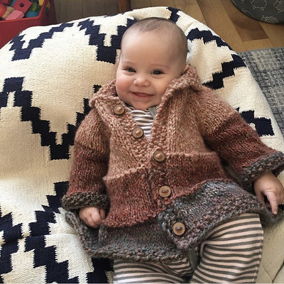 Victoria's very first sweater knit for her  little sweetie  Lisa Chemery's Tiered Baby Coat