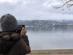 Taking pics of Okanagan Lake