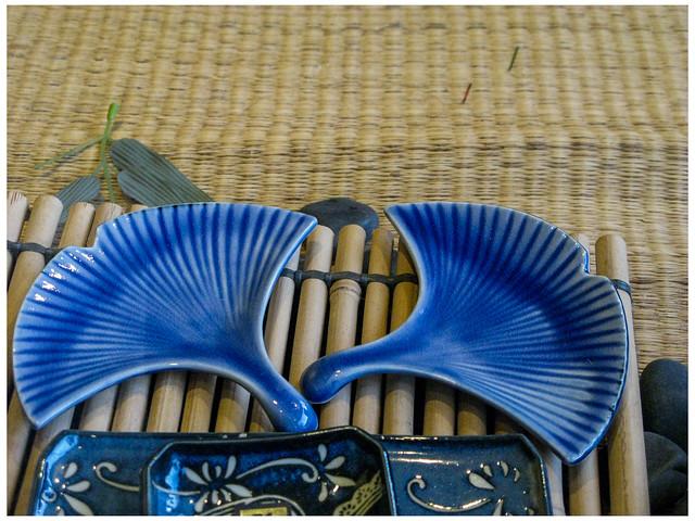 Blue Ginkgo Leaves