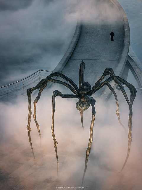 Maman in the fog