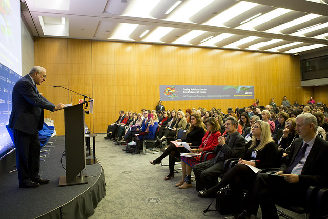 Taking public action to end violence at home at the OECD