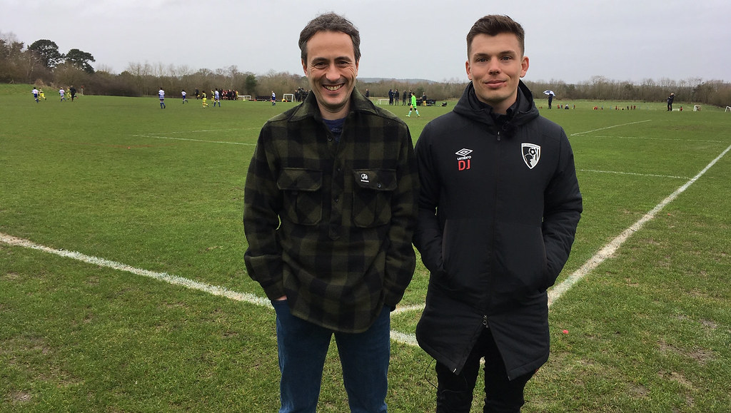 Sean Cumming with David Johnson at AFC Bournemouth