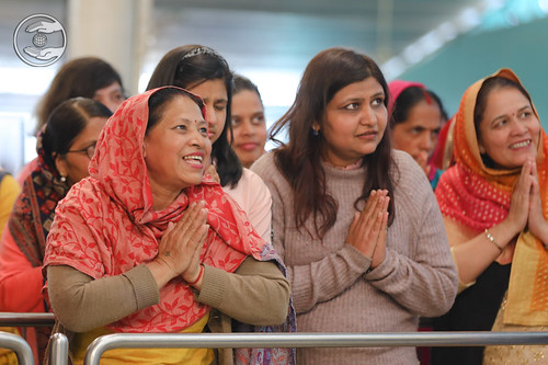 Devotees seeking blessings