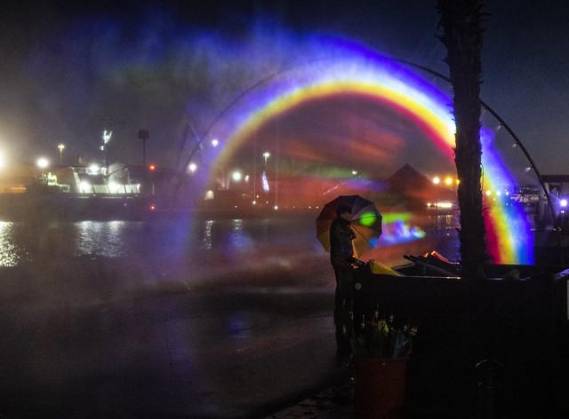 light up poole rainbow in the dark