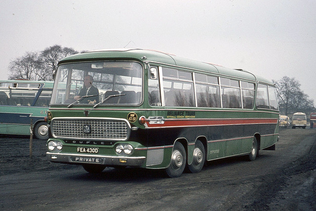 Reliance Tours / Wythall Coach Services  ( Beoley Garage Ltd ) . Beoley , Redditch .  FEA430D . White City , London , W12 . Saturday 14th-March-1970 .