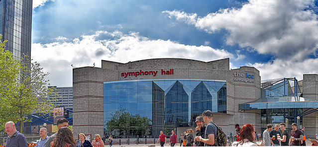 Symphony Hall Facade soon to be replaced, Birmingham.