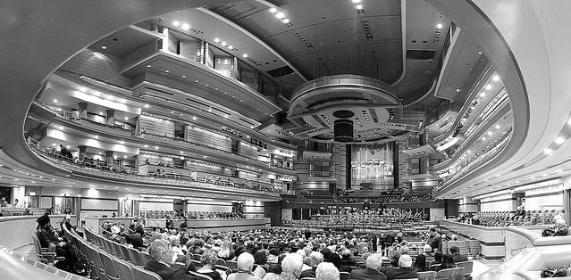Inside, Symphony Hall, Birmingham.