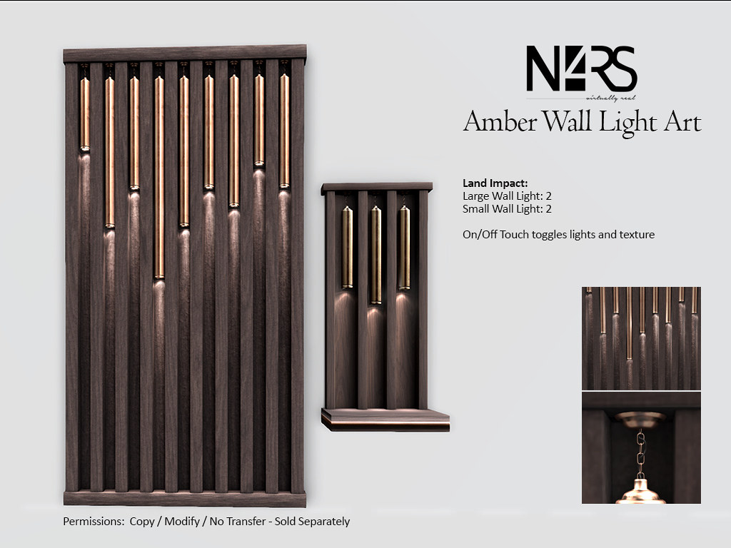 N4RS Amber Wall Light Art