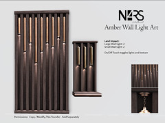 N4RS Amber Wall Light Art