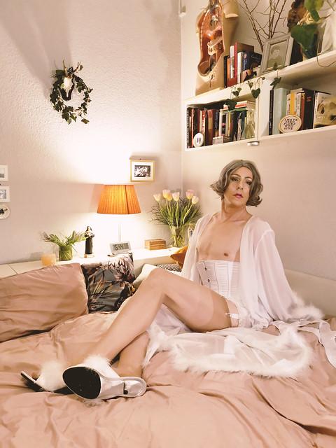 i love my white lingerie :)
