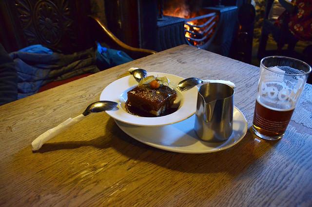 Stickt toffee pudding, Castleton, England