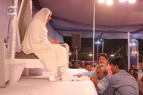 Devotee seeking blessings for the welfare