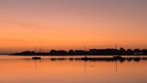silhouettes silhouettesatsunrise sunrisesky boats wetreflections