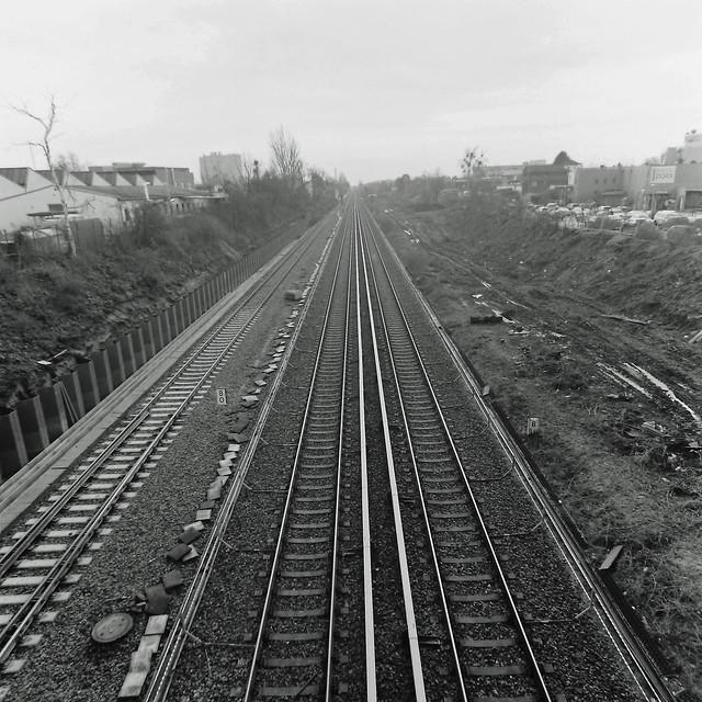 Berlin Kamenzer Damm Gleise S-Bahn S2 15.2.2020